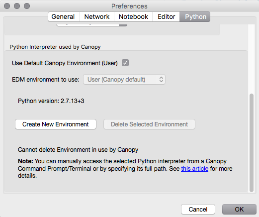 sc 1 st  Enthought Canopy documentation & Switching Python Environments u2014 Canopy 2.1.8-final documentation