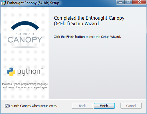 Windows Installation — Canopy 2 1 9-final documentation