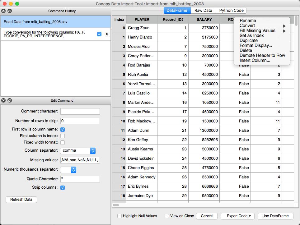 Data Import Tool Interface — Canopy Data Import Tool 1 1 6 documentation