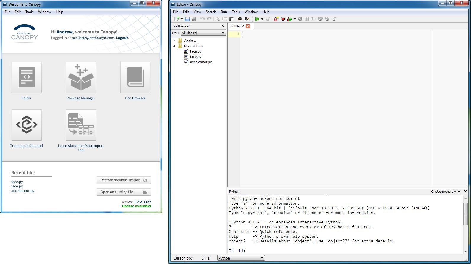 Getting Started — Python Integration Toolkit 1 2 0 documentation