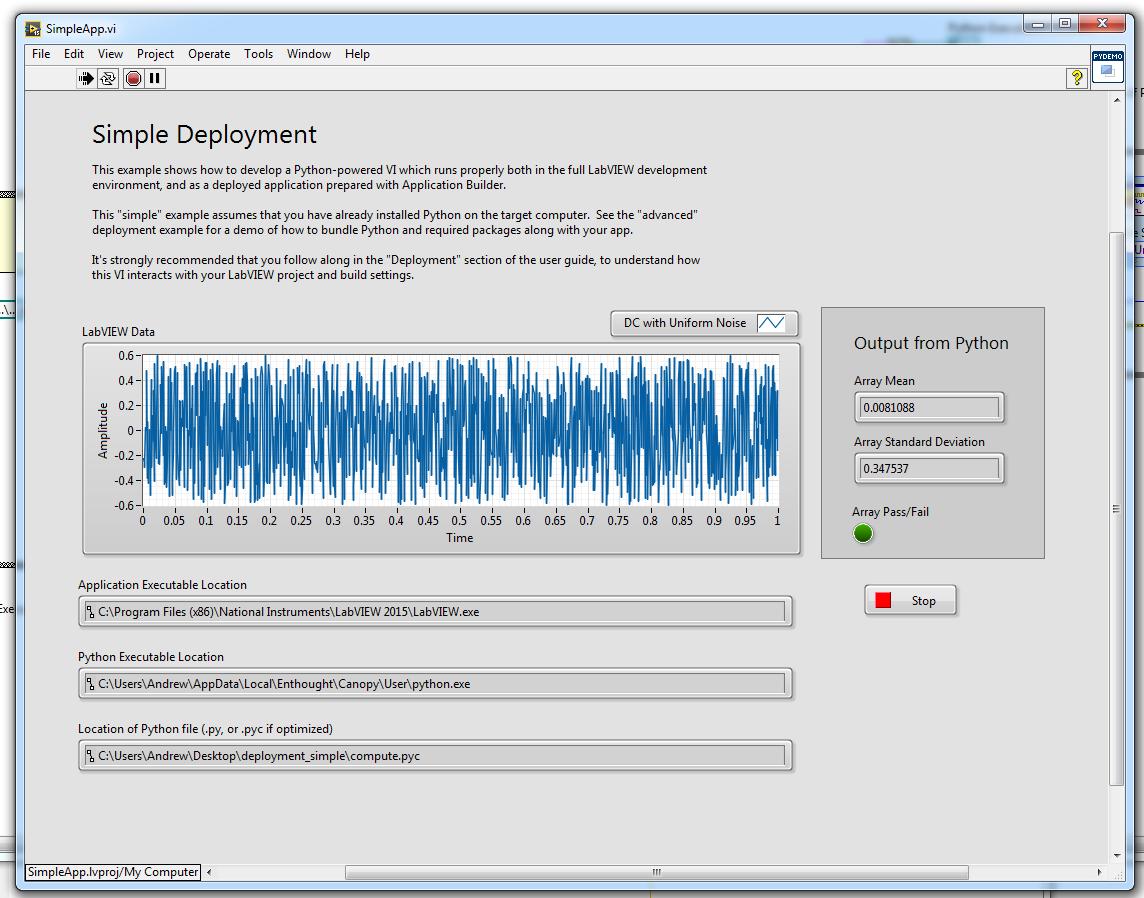 Deploying Python-Powered LabVIEW Applications — Python Integration